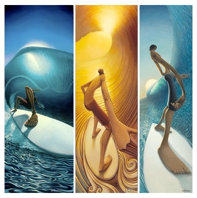 Jay Alders surf art paintings