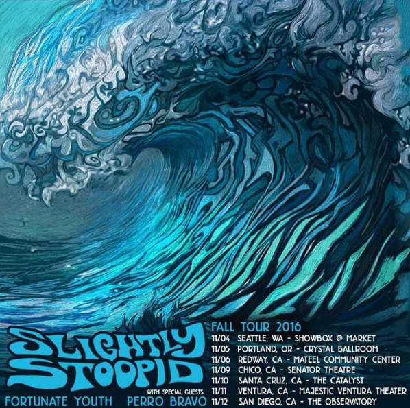 Slightly Stoopid Fall Tour 2016 Art