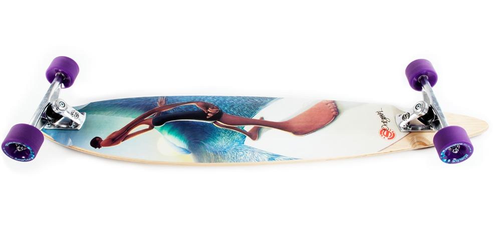 Left Behind the Wall Longboard Skateboard