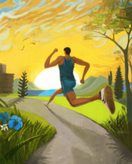 run free- running art by jay alders