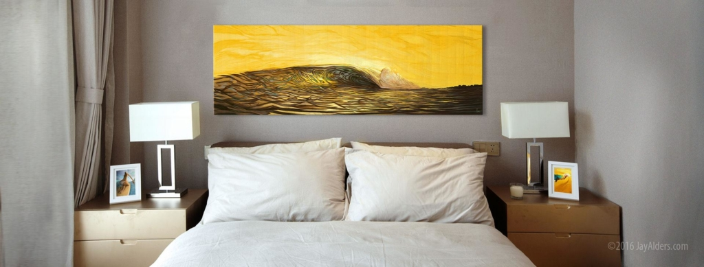 18th & Ocean - Surf Art contemporary print on canvas by Jay Alders