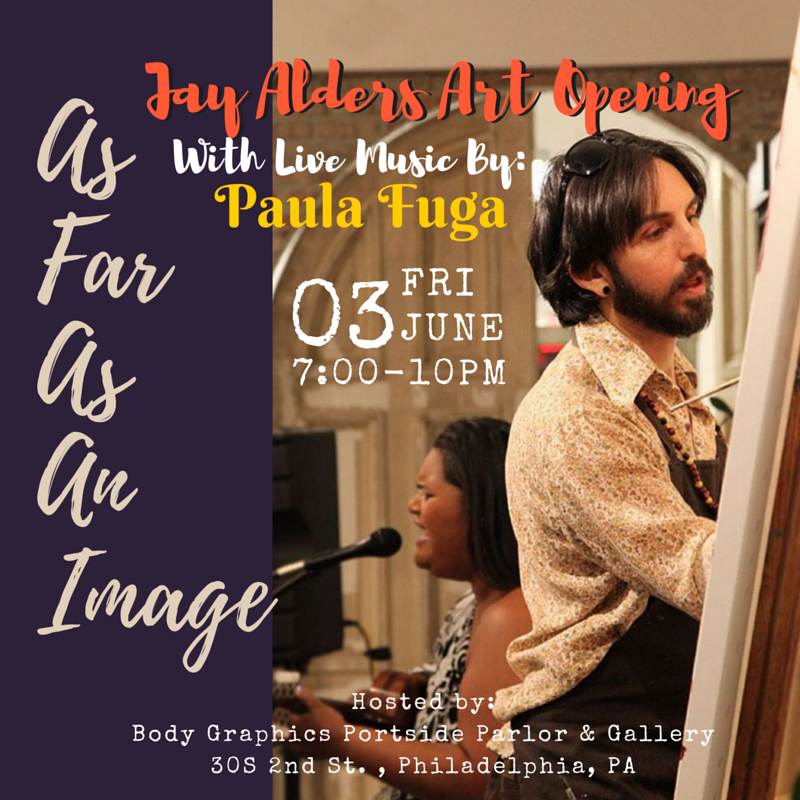 Jay Alders art opening in Philly with Paula Fuga