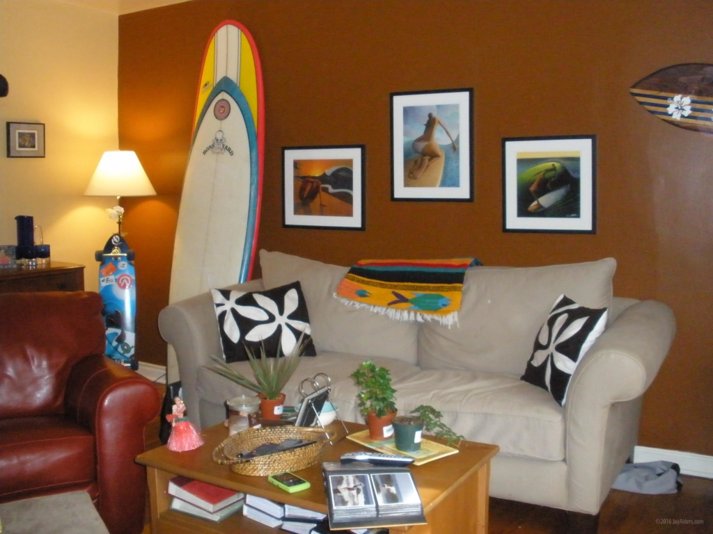 Surf artist Jay Alders art in homes