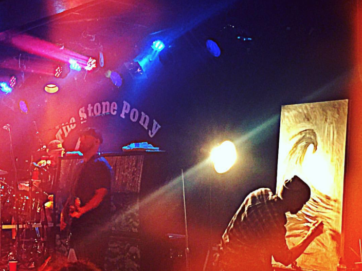 Jay Alders Live Painting with The Expendables at The Stone Pony 3/17/17